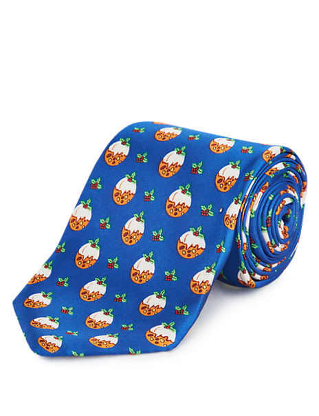 Novelty Christmas Pudding Tie