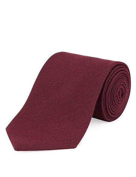 Wool Blend Textured Tie