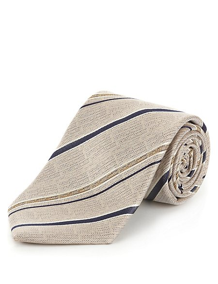 Ultimate Pure Silk Striped Tie with Stain Resistance