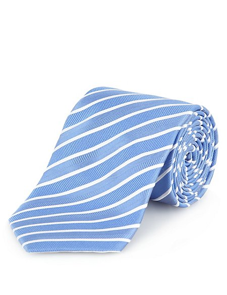 Official England FA Pure Silk Summer Striped Tie