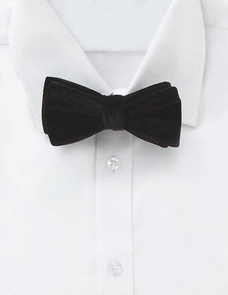 Pre Tied Velvet Bow Tie | M&S Collection
