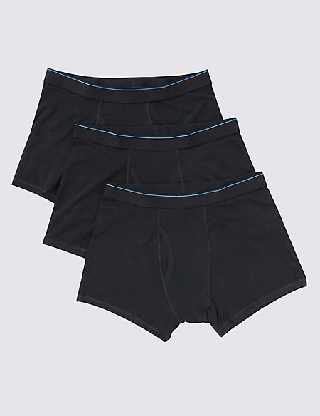 3 Pack Cool & Fresh™ Stretch Cotton Trunks with StayNEW™