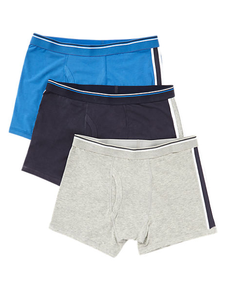 3 Pack 4-Way Stretch Cotton Cool & Fresh™ Assorted Trunks with StayNEW™