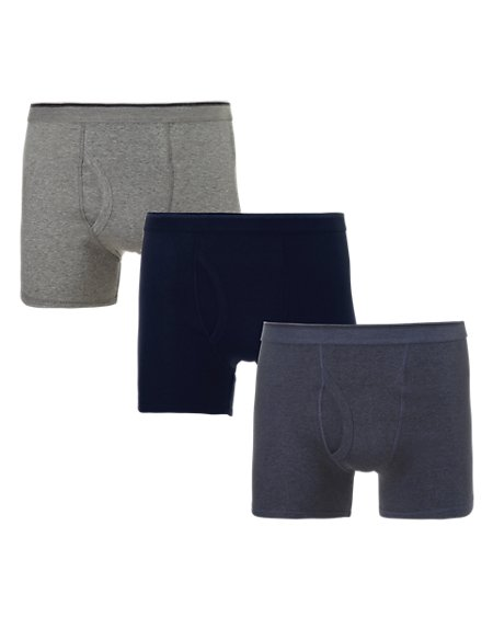 3 Pack Cool & Fresh™ Pure Cotton Trunks