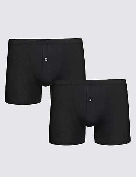 2 Pack Stretch Supima® Cotton Trunks