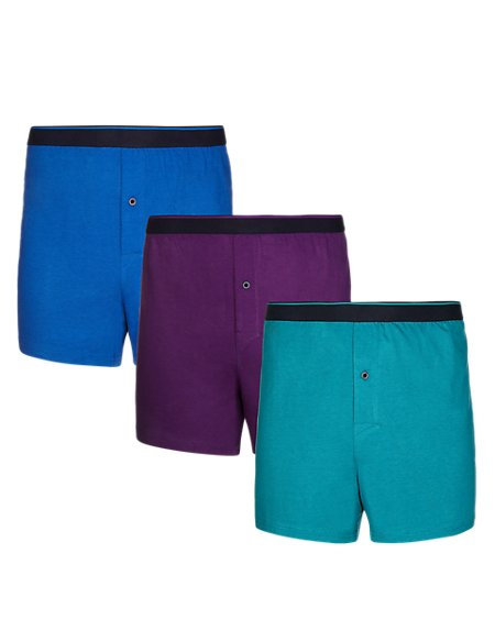 3 Pack Pure Cotton Cool & Fresh™ Boxers with StayNEW™