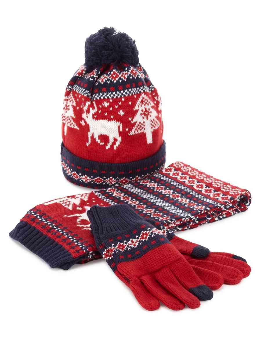 Cotton Rich Fair Isle Christmas Hat 051a423a5224