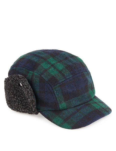 Kids' Checked Trapper Hat