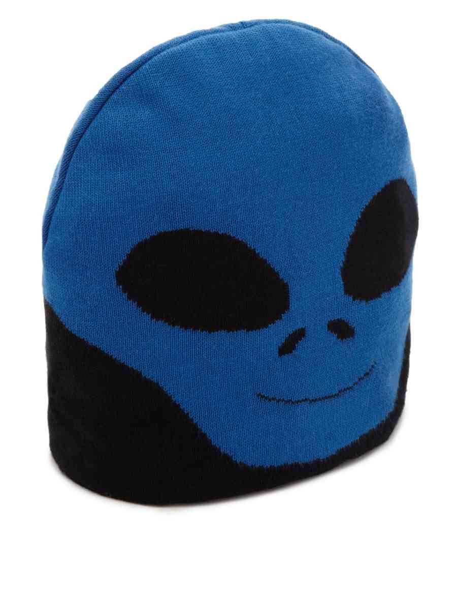 48122fe2d0a Pure Cotton Alien Beanie Hat (Older Boys)
