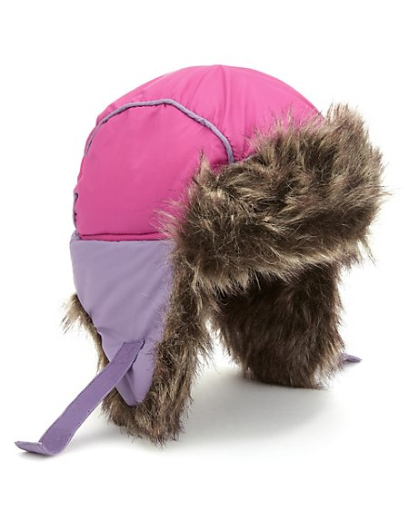 Faux Fur Padded 2 Tone Trapper Hat with Stormwear™