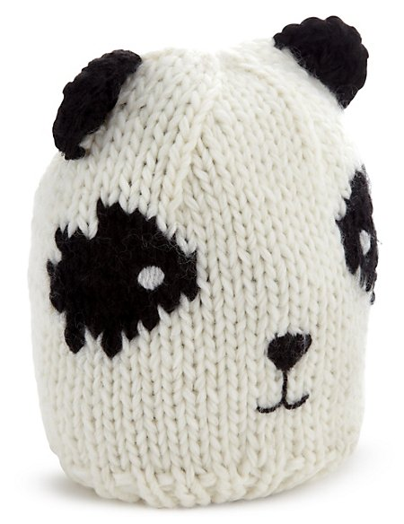 Panda Hat With Wool 5 14 Years Ms