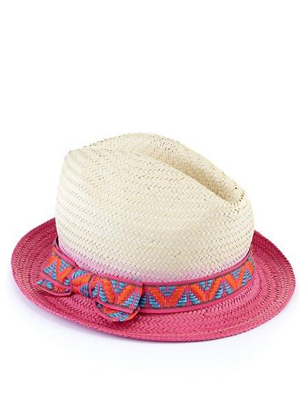 Dip Dye Straw Hat (Older Girls)
