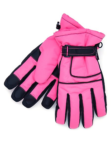 Colour Block Ski Gloves with Stormwear™ & Thinsulate™