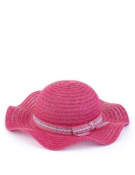 Pure Cotton Glitter Hat (Younger Girls)