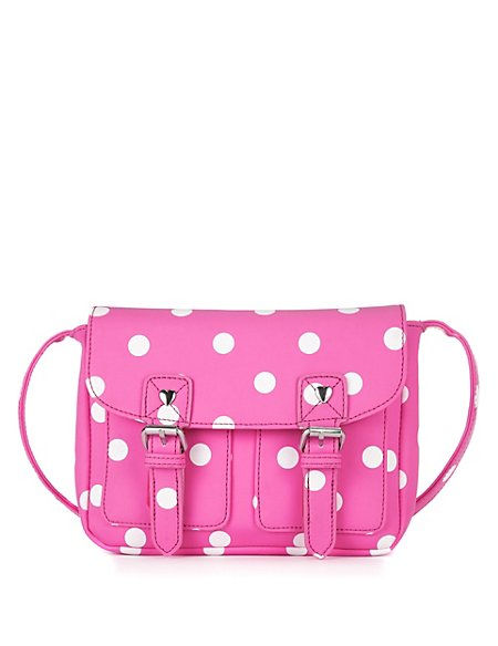 Spotted Cross-Body Mini Satchel Bag (Older Girls)