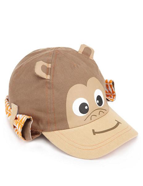 Pure Cotton High Top Monkey Kepi Cap (Younger Boys)