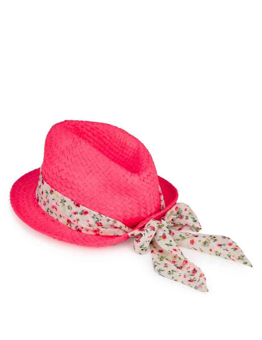 2512f296e9 Kids  Neon Trilby Straw Hat
