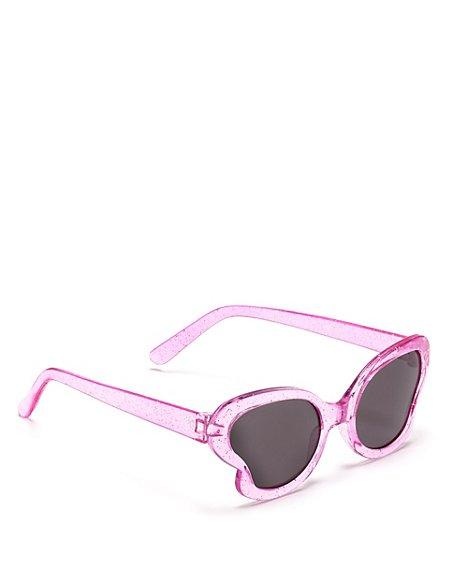 Butterfly Glitter Kids Sunglasses (Younger Girls)
