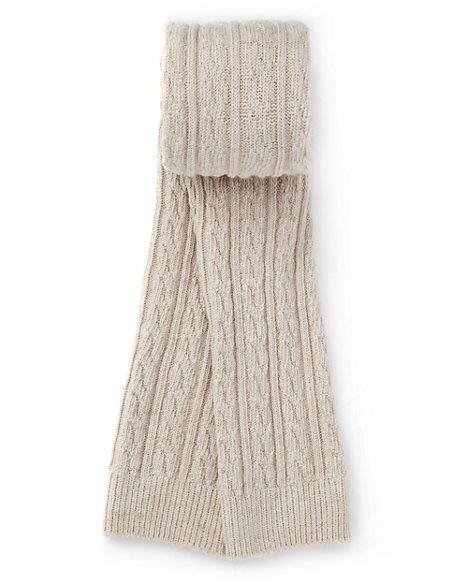 Pure Cotton Cable Knit Opaque Tights