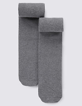 2 Pairs of Thermal Tights with Wool (4-14 Years)