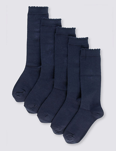 5 Pairs of Knee High Socks
