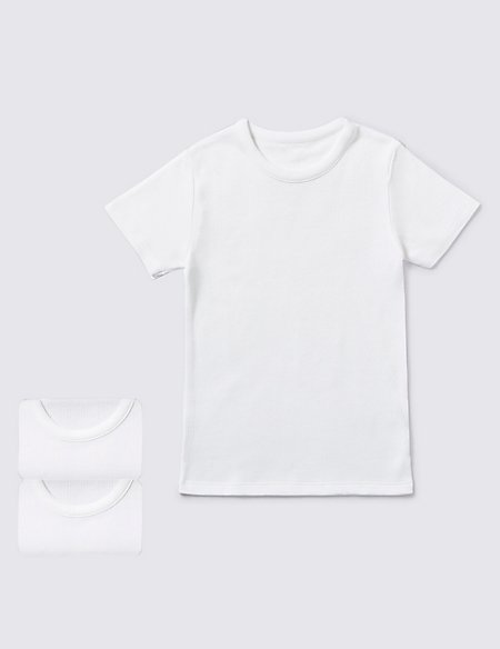 Short Sleeve Thermal Vests (18 Months - 16 Years)