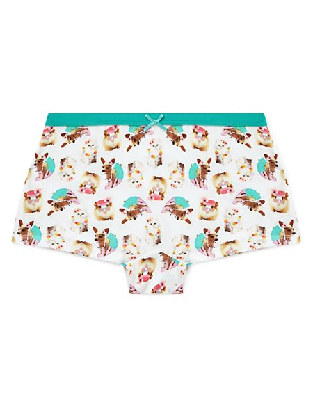 Pure Cotton Tropical Print Boxers (6-16 Years)