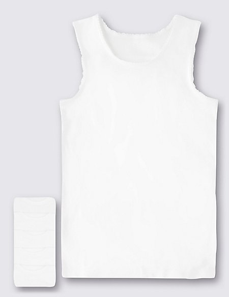 Pure Cotton Sleeveless Vests (18 Months - 16 Years)
