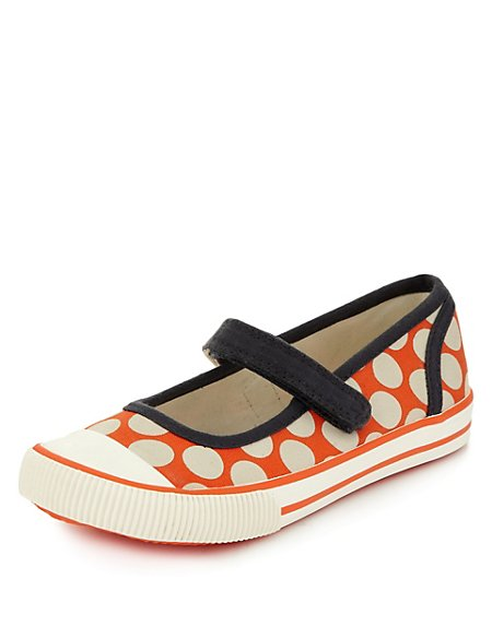 Spotted Riptape Trainers (Younger Girls)