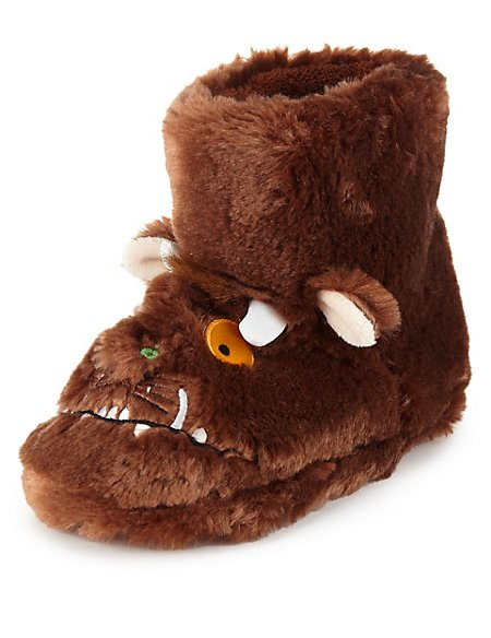 Faux Fur The Gruffalo Slippers (Younger Boys)