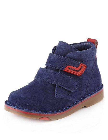Walkmates Suede Riptape Ankle Desert Boots