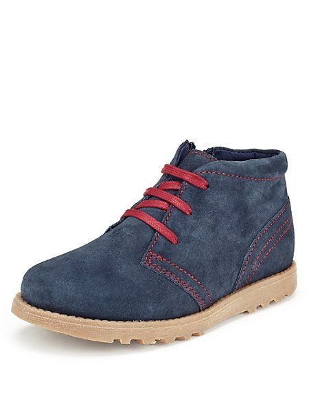 Suede Waxed Desert Boots with Stain Resistance (Yonger Boys)