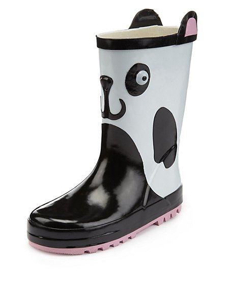 Panda Welly Boots (Younger Girls)