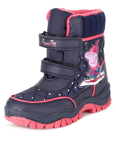 Kids' Peppa Pig™ Riptape Snow Boots with Thinsulate™