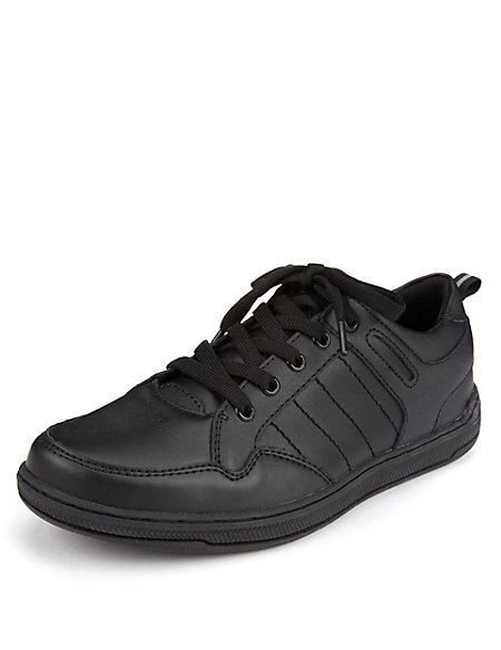 Freshfeet™ Scuff Resistant Leather Cupsole Shoes with Silver Technology (Older Boys)