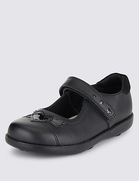 Kids' Freshfeet™ Coated Leather Shoes with Silver Technology