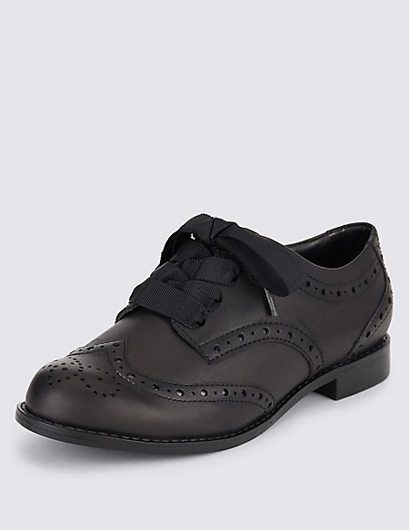 Kids' Freshfeet™ Leather Brogue Shoes with Insolia Flex® & Silver Technology