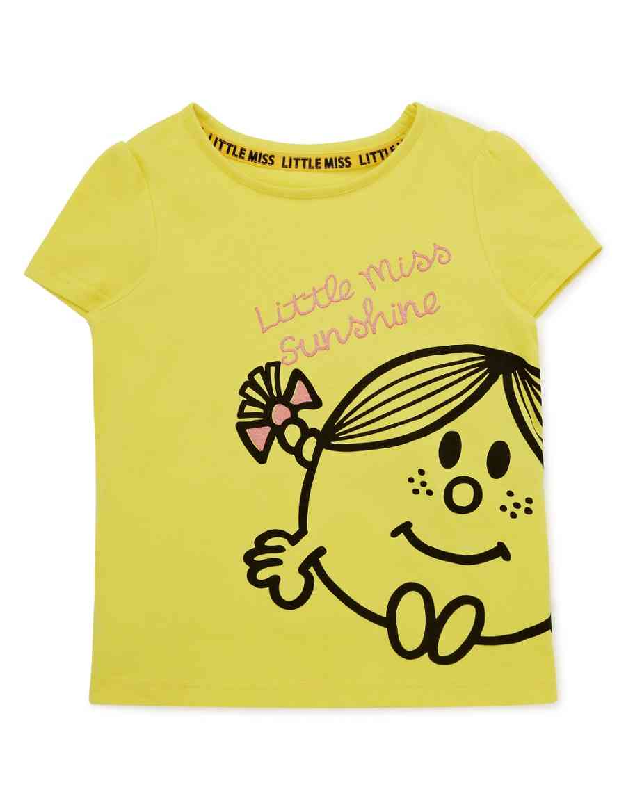 4177e9044 Pure Cotton Little Miss Sunshine Girls T-Shirt with Free Book (1-7 ...