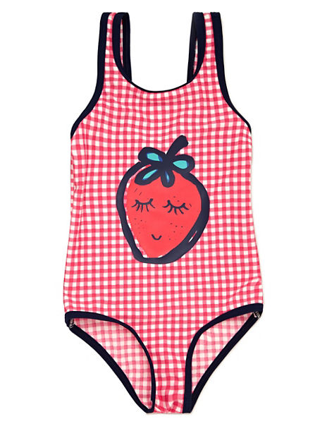 Lycra® Xtra Life™ Chlorine Resistant Fruit Print & Checked Swimsuit (1-7 Years)