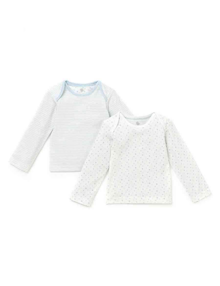 4e418d8bf7 2 Pack Cotton Rich Star & Striped T-Shirts   M&S