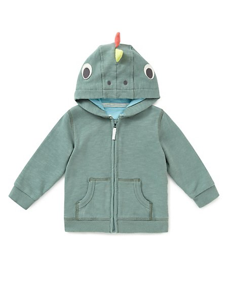 Pure Cotton Iguana Hooded Top