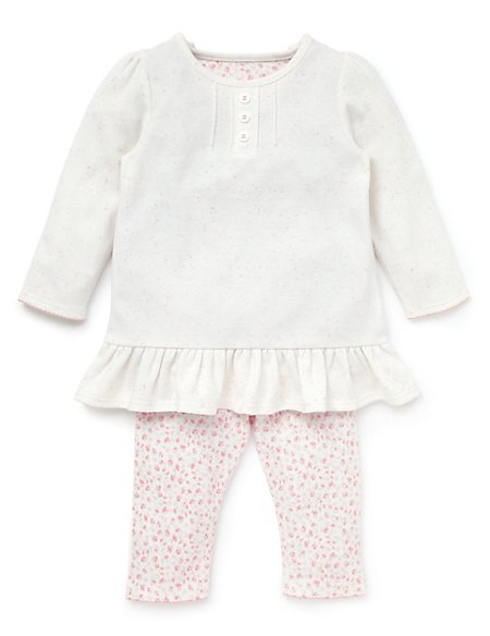 2 Piece Pure Cotton Tunic & Leggings Outfit