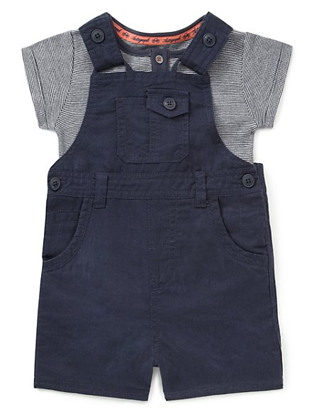 2 Piece Bodysuit & Dungaree Outfit