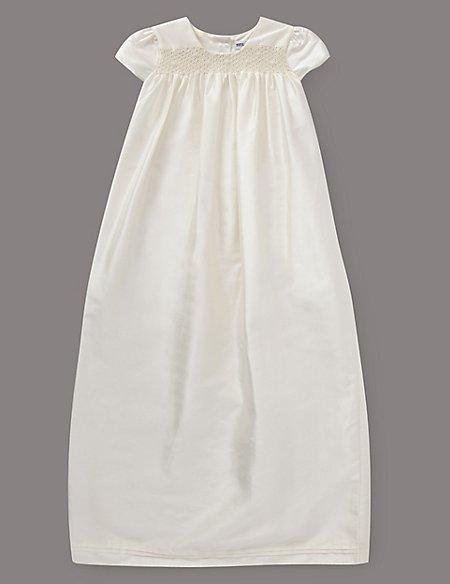 Pure Silk Smock Christening Dress