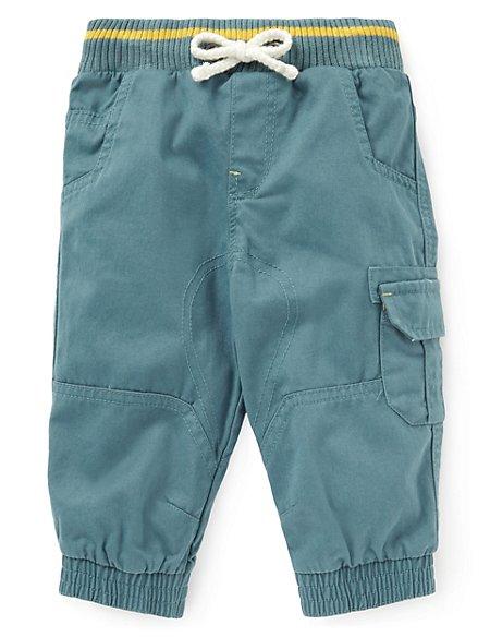Pure Cotton Twill Cargo Trousers