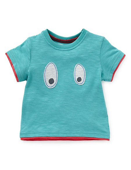 Pure Cotton Boo Graphic T-Shirt