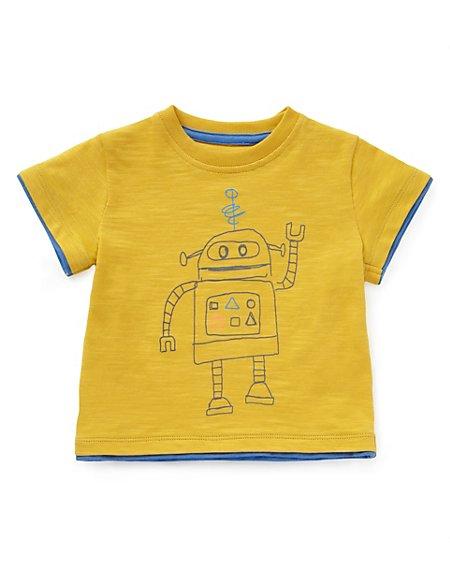 Pure Cotton Robot T-Shirt