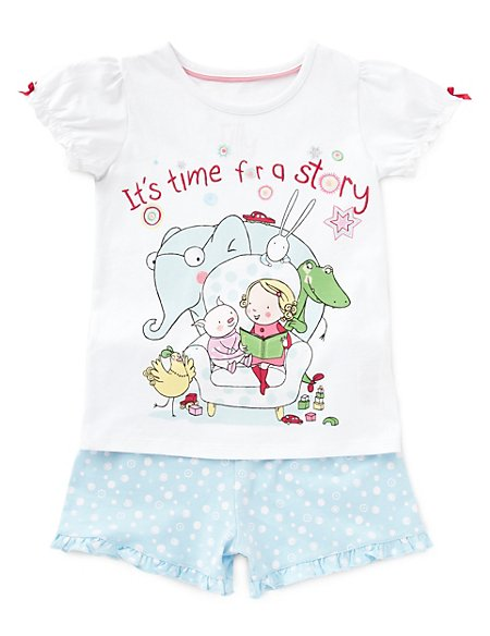 Pure Cotton Tilly & Friends™ Short Pyjamas (1-7 Years)