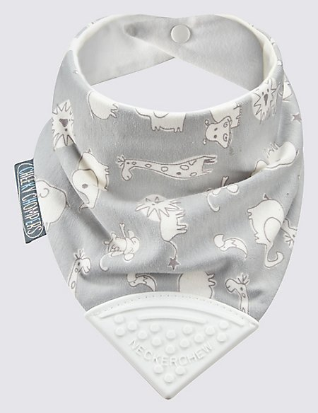 Animal Print Chewy Dribble Bib