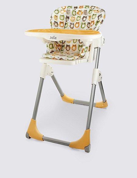 Mimzy Snacker Owl Print High Chair | Joie | M&S